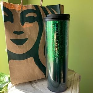 🌟 Limited Edition Green Glitter Thermos 🌟